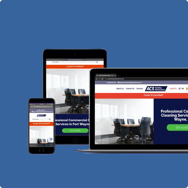 mobile responsive website for ACS Building Maintenance