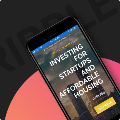 morris realty and investments website with responsive mobile design